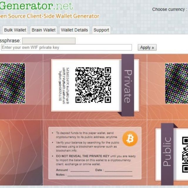 walletgenerator paper wallet